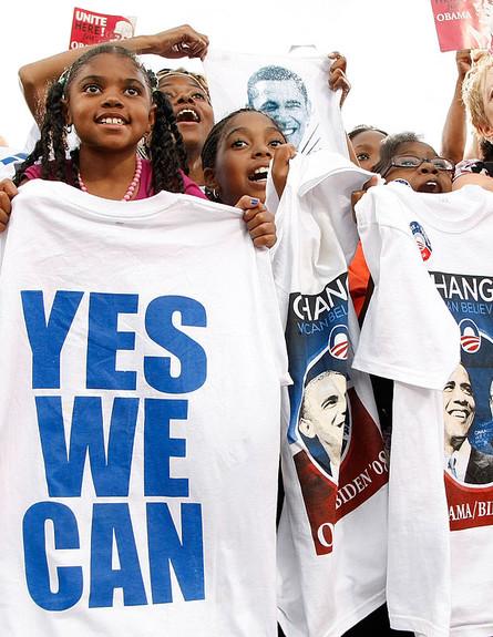 תומכות של ברק אובמה בעצרת ב-2008 (צילום: Ethan Miller, GettyImages IL)