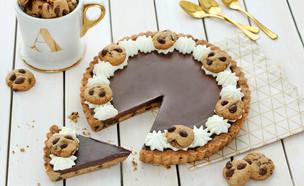 טארט מבצק שוקולד צ'יפס (צילום: ענבל לביא, אוכל טוב)