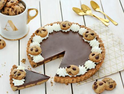 טארט מבצק שוקולד צ'יפס