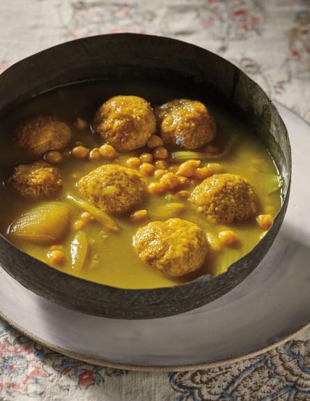 גונדי - כופתאות עוף וחומוס  (צילום: דן פרץ, מטבח פרסי, הוצאת לאנצ'בוקס)