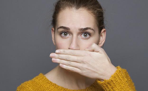 הרפס מכסה את הפה (צילום: Shutterstock)