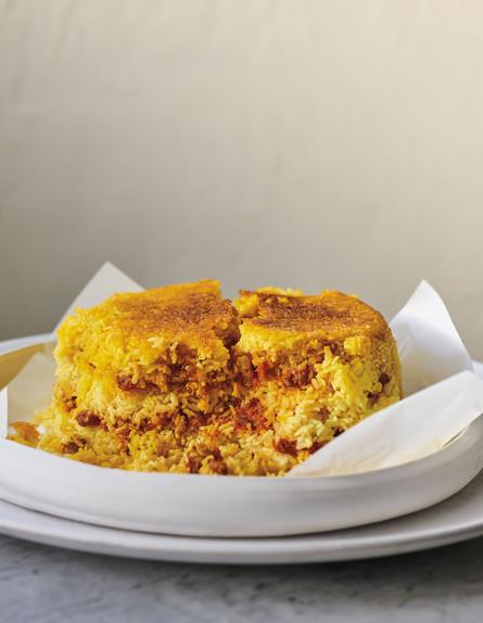 אורז עם עגבניות ובשר (צילום: דן פרץ, מטבח פרסי, הוצאת לאנצ'בוקס)