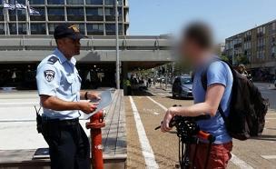 קנסות מוגדלים על נסיעה באופניים על המדרכ (צילום: עזרי עמרם, חדשות 2)