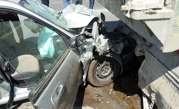 זירת התאונה, היום (צילום: איחוד הצלה)