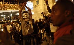 הפגנות הקהילה האתיופית בתל אביב (צילום: פלאש 90 - יהונתן סינדל)