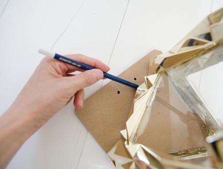 מתנות נועה, עששית ממסגרות (5) (צילום: נועה קליין)