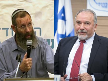 הרב יגאל לוינשטיין ואביגדור ליברמן
