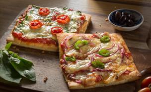פיצה כשרה לפסח (צילום: בני גם זו לטובה, אוכל טוב)