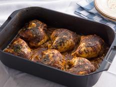 רבע עוף במילוי בשר, פטריות וצנוברים (צילום: בני גם זו לטובה, אוכל טוב)