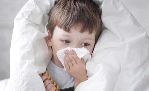 ילד עם אלרגיה (צילום: Shutterstock)