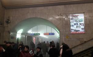 פיצוץ ברכבת בסנט פטרסבורג ברוסיה (צילום: חדשות 2)