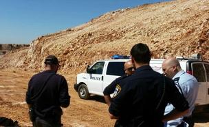 אתר הבנייה בצפת (צילום: דוברות המשטרה)