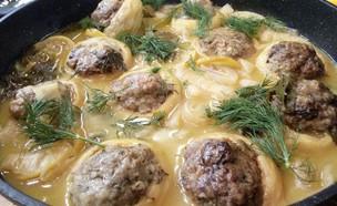 לבבות ארטישוק וגבעולי ארטישוק ממולאים בבשר ועשבי ת (צילום: אוכל טוב)