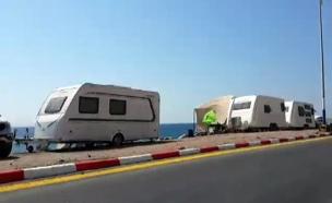 מדוע אסר ראש העיר על הצבת אוהלים? (צילום: חדשות 2)