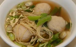 מרק כדורי עוף אסייתי  (צילום: טופ ליין תקשורת, אוכל טוב)
