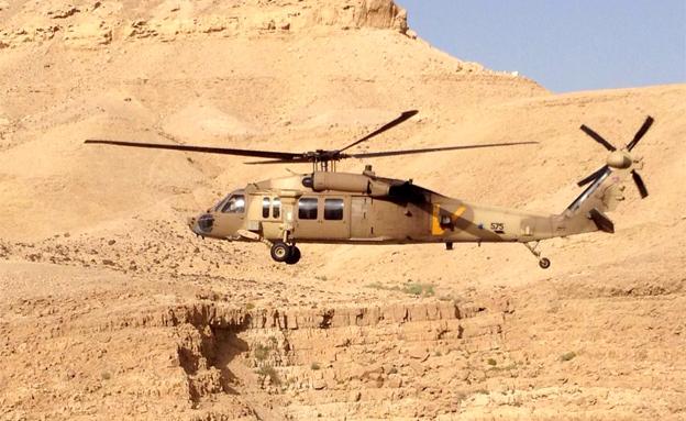 מסוק חילוץ הערבה (צילום: חדשות 2)