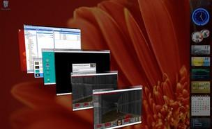 ממשק החלפת החלונות התלת-ממדי בווינדוס ויסטה (צילום: מיקרוסופט)