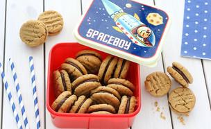 עוגיות חמאת בוטנים ושוקולד ללא קמח (צילום: ענבל לביא, אוכל טוב)