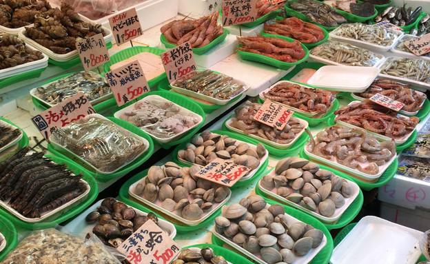 שוק ueno בטוקיו (צילום: אפרת אנזל, אוכל טוב)