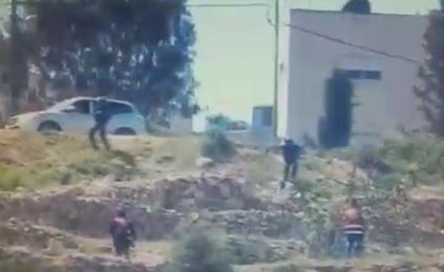 העימותים בביתוניא, היום (צילום: דוברות המשטרה)