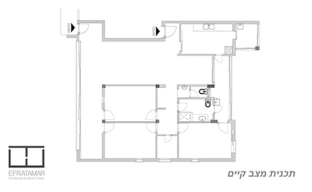 אפרתמר אדריכלות (35), תכנית לפני (צילום: מאיה חבקין)