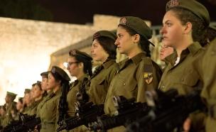 """נשים בגדוד לוחם (ארכיון) (צילום: דובר צה""""ל)"""