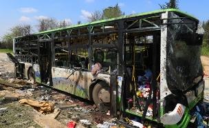 פיצוץ אוטובוס בסוריה (צילום: חדשות 2)