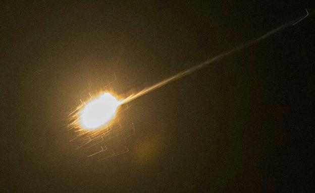 """תיעוד יירוט טיל הנ""""מ הסורי, בחודש שעבר"""