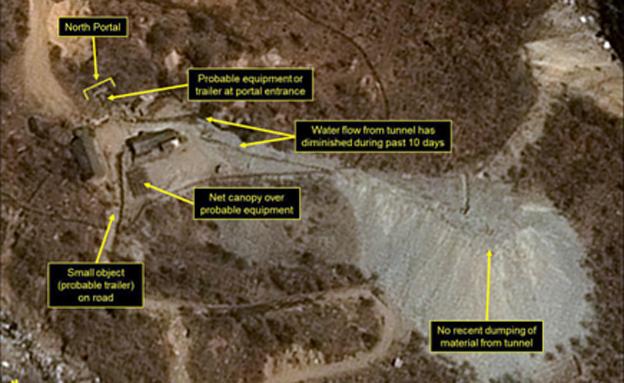 אתר הגרעין של צפון קוריאה (צילום: CNN)
