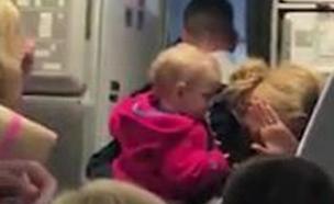 צפו ברגעי הדרמה על המטוס