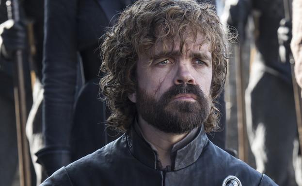 פיטר דינקלייג' (טיריון) ב'משחקי הכס' עונה 7 (צילום: מקל ב. פולאיי, מקור: HBO באדיבות HOT)