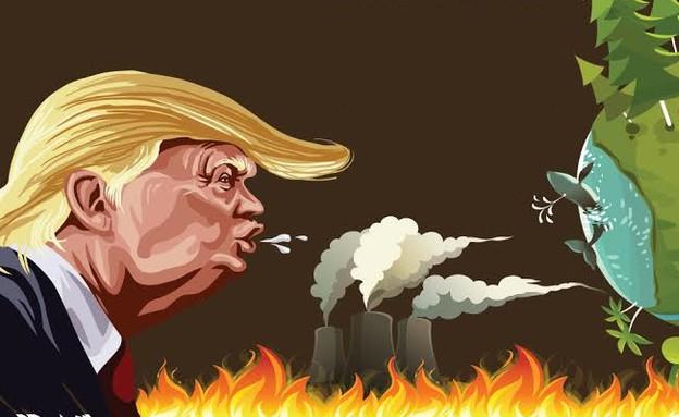 טראמפ מחמם את העולם (צילום: יחסי ציבור)
