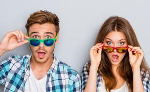 גבר ואישה מופתעים (אילוסטרציה: Shutterstock)