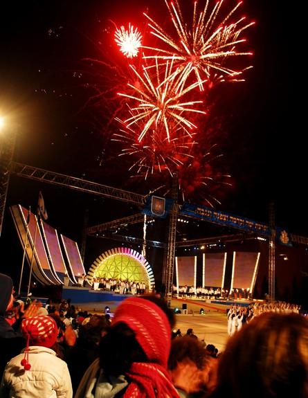 """מופע זיקוקי די נור בחזרות לקראת טקס יום העצמאות בהר הרצל 2006 (צילום: אבי אוחיון, לע""""מ)"""