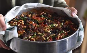 מוסקה חצילים ותמרים (צילום: חן ואלון קורן, אוכל טוב)