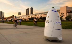 רובוט מאבטח מדגם K5 של Knightscope (צילום:  יחסי ציבור )