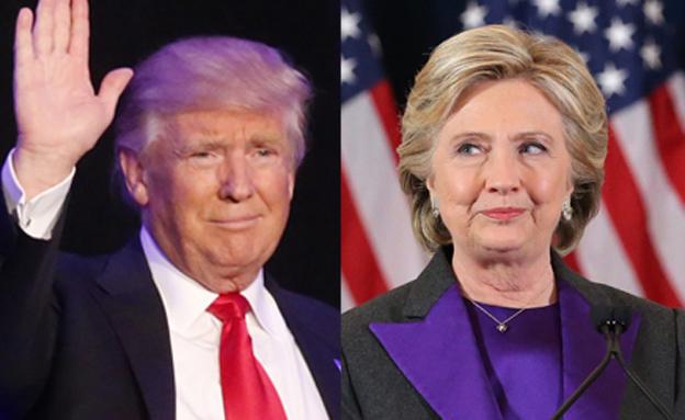 הקרב נמשך. טראמפ וקלינטון (צילום: רויטרס)