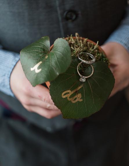 חתונות09, שילוב עלים, ענפים ועציצים (צילום: יחסי ציבור)
