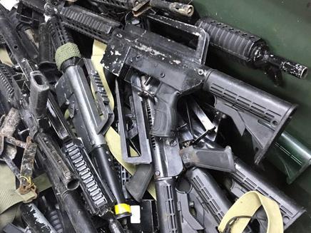 חלק מהנשקים שנתפסו בעבר ביהודה ושומרון