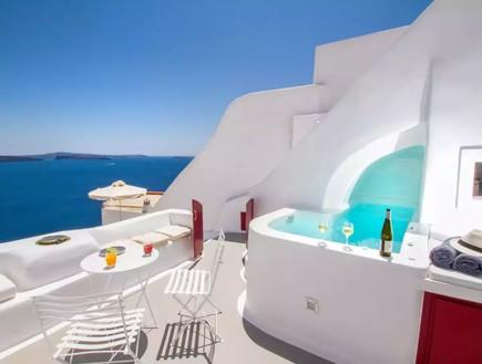 בית אבן סנטוריני יוון 2