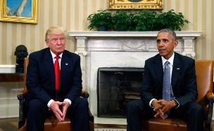 הזהיר. הנשיא אובמה וטראמפ בנובמבר (צילום: רויטרס)