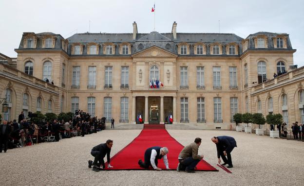 מקרון מושבע לנשיא צרפת (צילום: רויטרס)