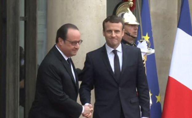 ישיר מצרפת: טקס השבעתו של מקרון (צילום: sky news)