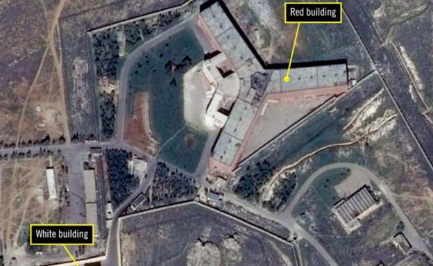מתקן העינויים הסודי של אסד, סוריה, שריפה (צילום: amnesty.org)