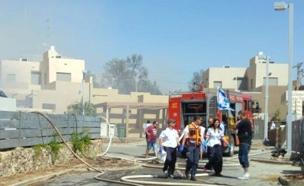 """זירת השריפה בערד (צילום: דוברות מד""""א)"""