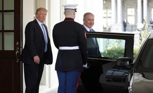 """בנימין ביבי נתניהו, דונאלד טראמפ, וושינגטון ארה""""ב (צילום: רויטרס)"""
