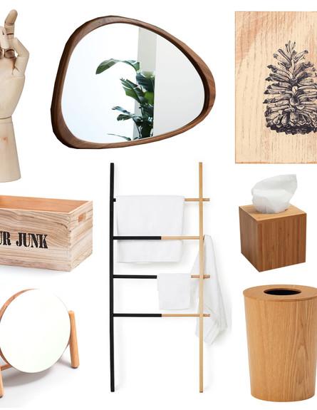 חדר רחצה, עץ