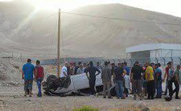תאונה קטלנית בבקעת הירדן (צילום: TPS / יעל צור)