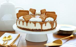 עוגת גבינה ניו יורק עם לוטוס (צילום: ענבל לביא, אוכל טוב)