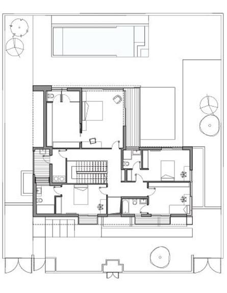 תוכנית קומה ראשונה, הדמיה שחר רוזנפלד אדריכלות